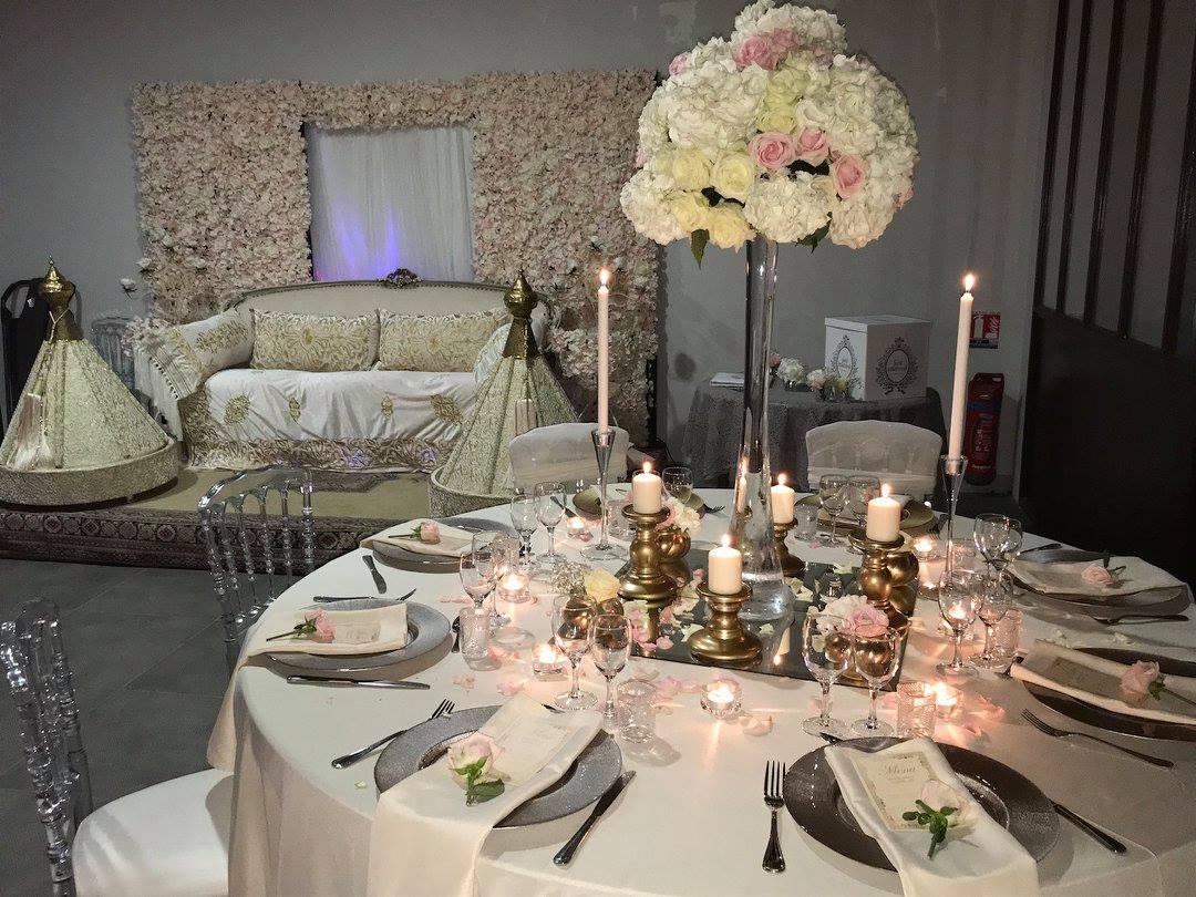 Salle de réception d'un mariage