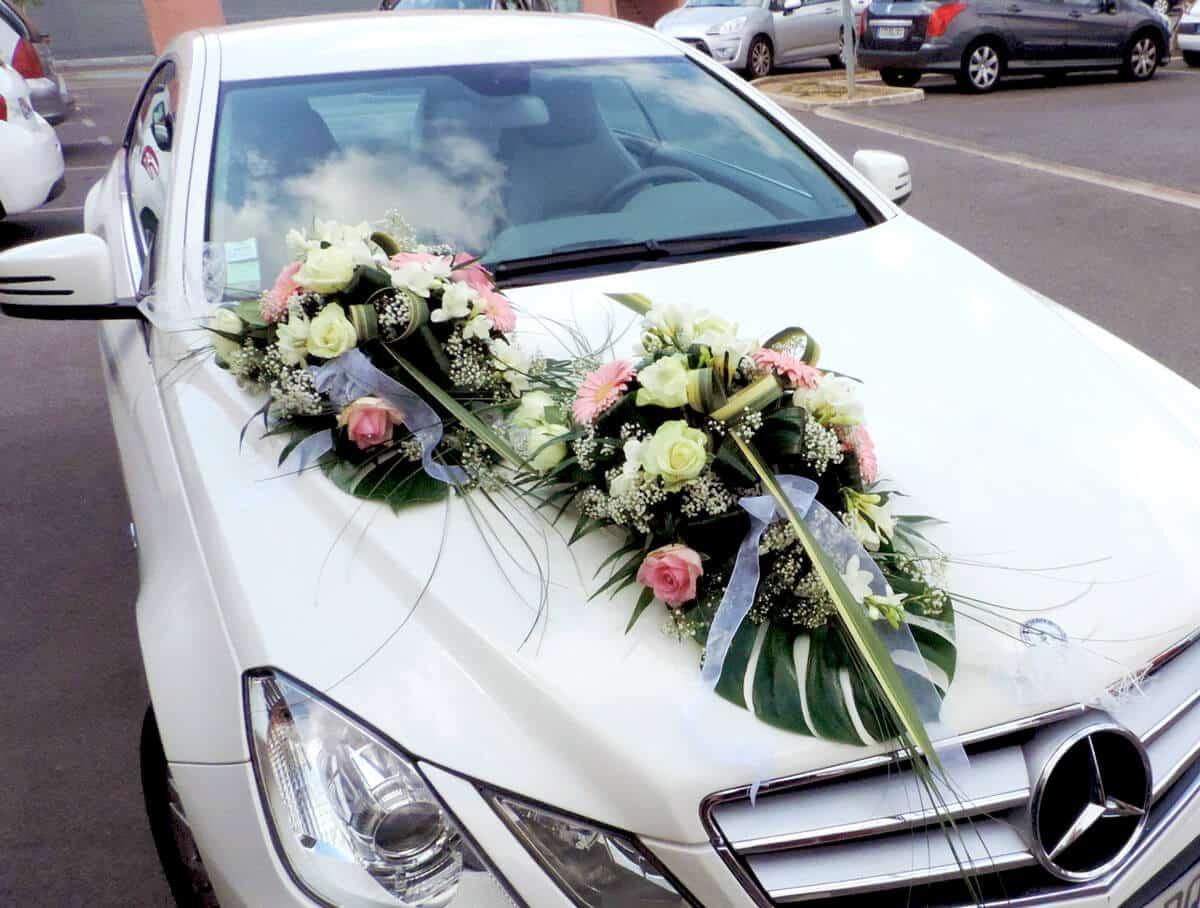 D coration voiture mariage des id es pour votre arriv e - Decoration voiture mariage sans fleur ...