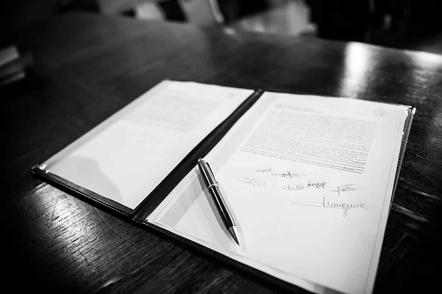 signatures mariage